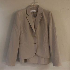 Calvin Klein 2 piece Skirt Suit Jacket 6 Skirt 4